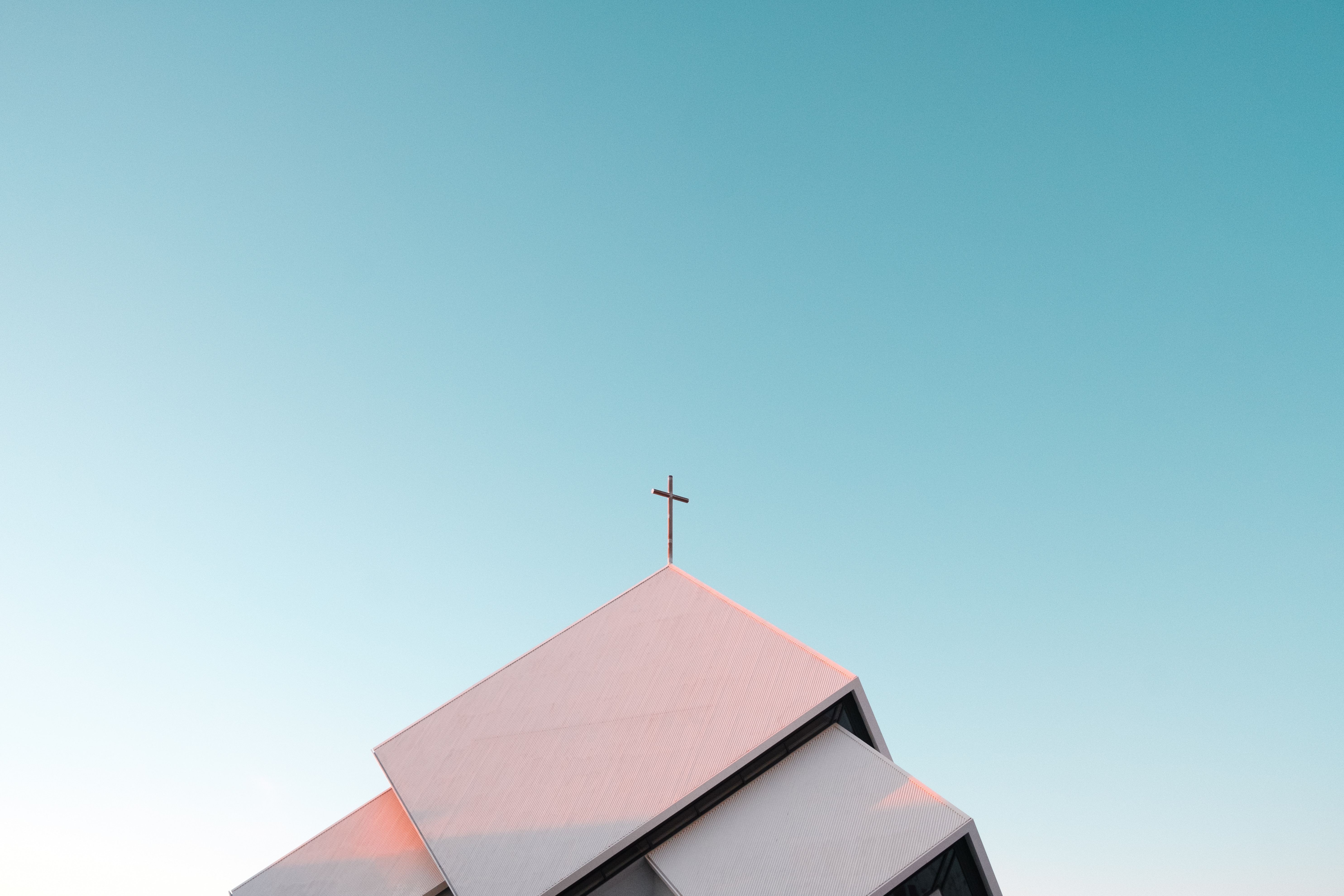 Image of a cross on a church roof