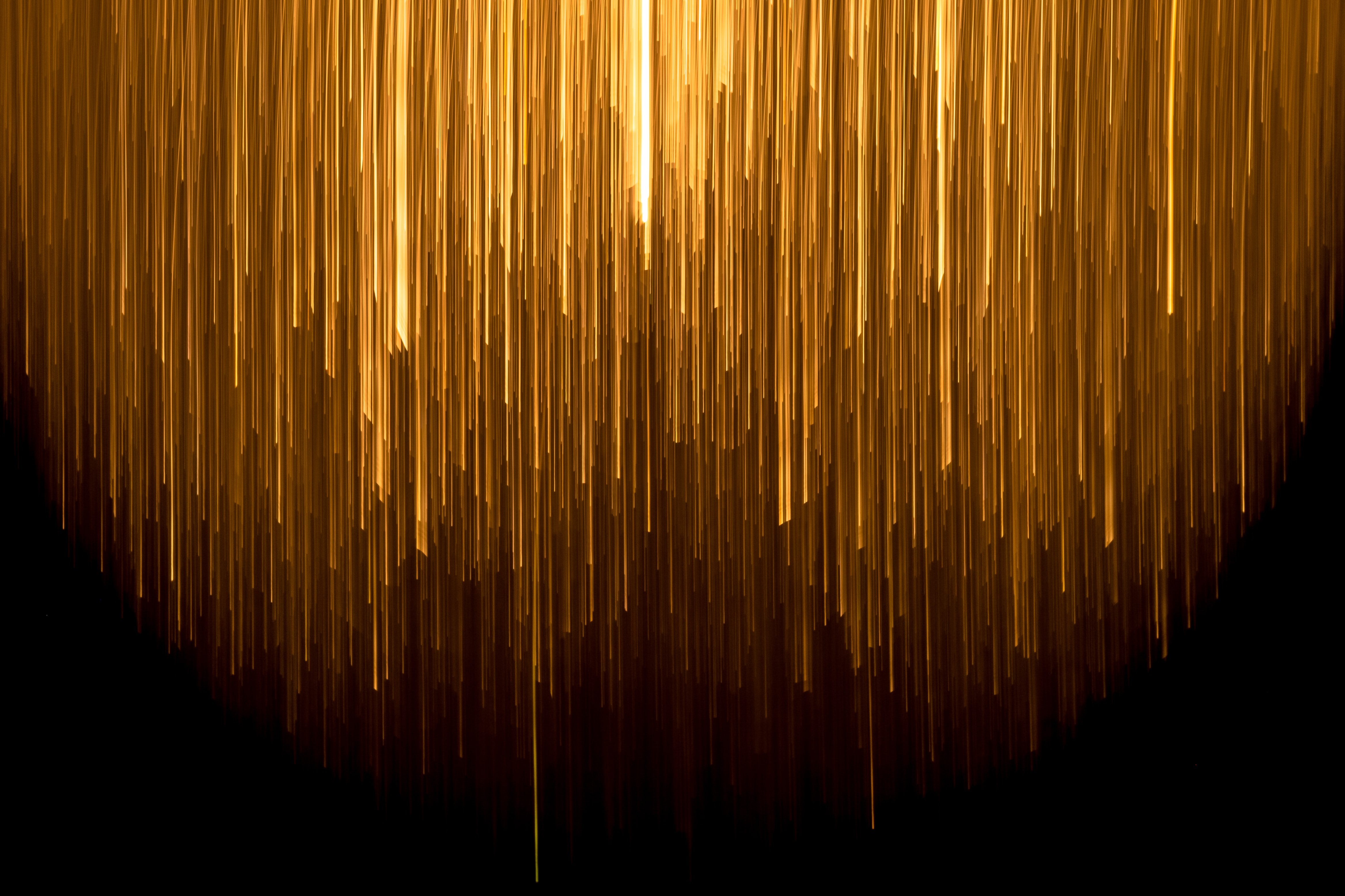 Abstract image of light falling from above