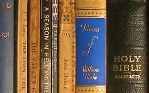 Image of a row of books